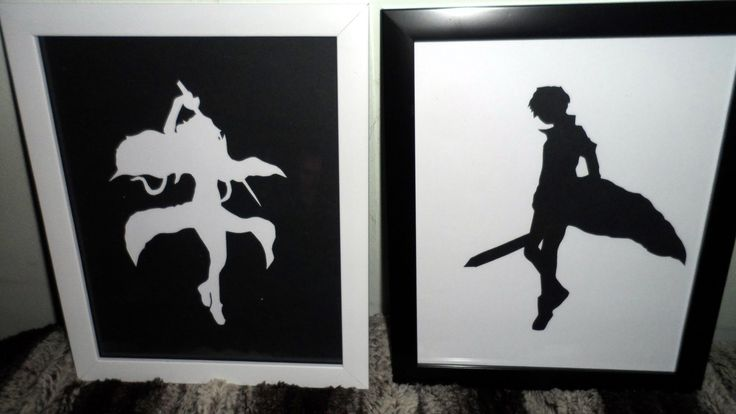 Sword Art Online Silhouettes #howto #tutorial