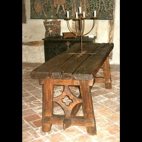 Rustic Dining Room Table With Carved Details From Arteso