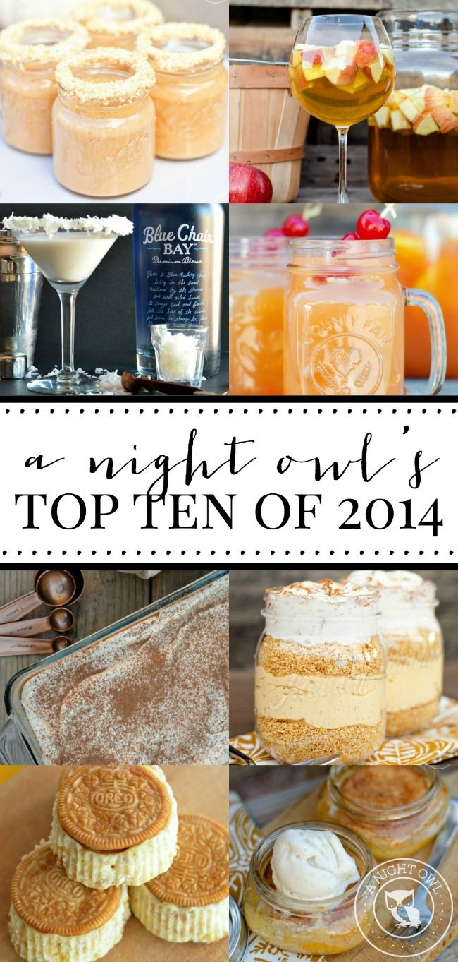 A Night Owl's Top Ten Posts of 2014 | Recipes, Crafts and MORE!