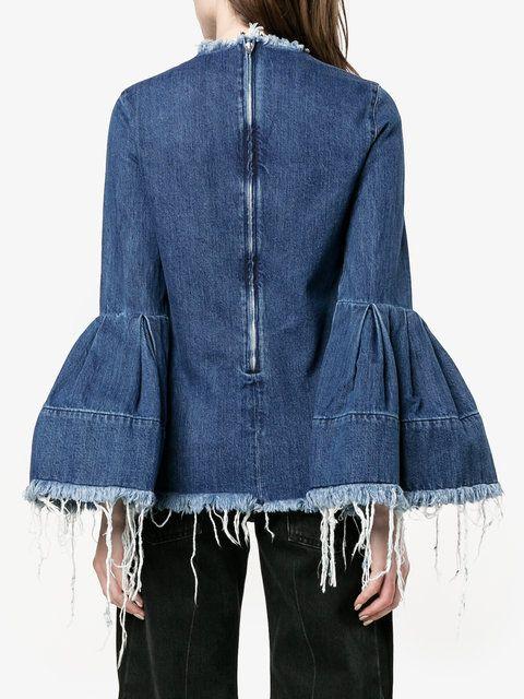 Marques'almeida джинсовая блуза с рукавами-колокол