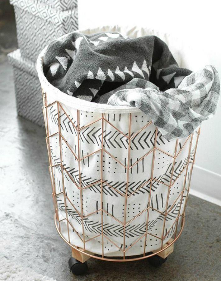 Cesto De Roupa Com Tela Diy Laundry Hamper Diy Room Diy