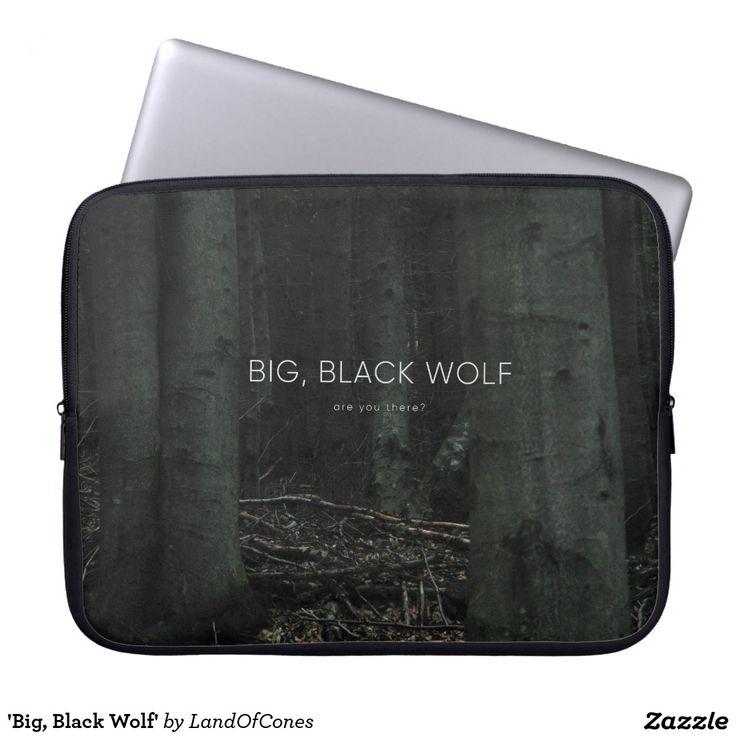 'Big, Black Wolf' Computer Sleeves