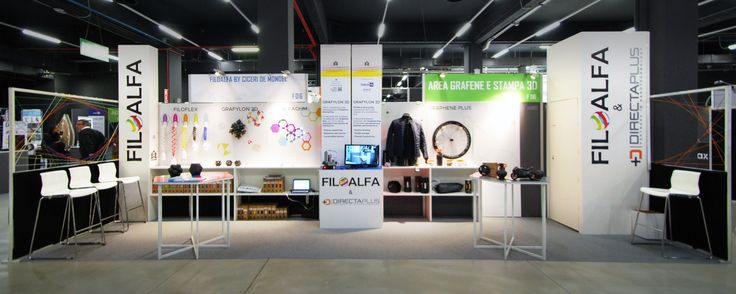 Our 2017 Technology Hub booth in Milan.