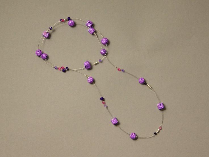 Lange Halskette - ♥ Lila Pause ♥ von ViennaCrafties auf DaWanda.com