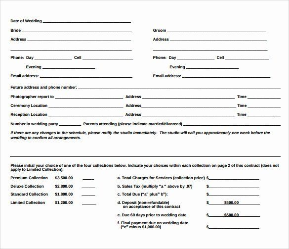 Wedding Videography Contract Template In 2020 With Images