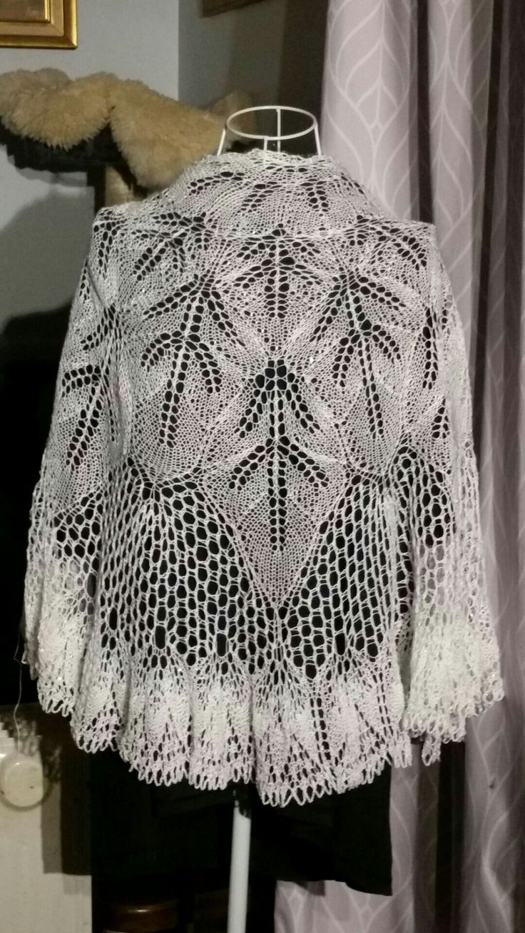 Hand knitted Pure White Cotton with Crystal beads...wedding perfect...4 sale woolznyarnz@hotmail.com