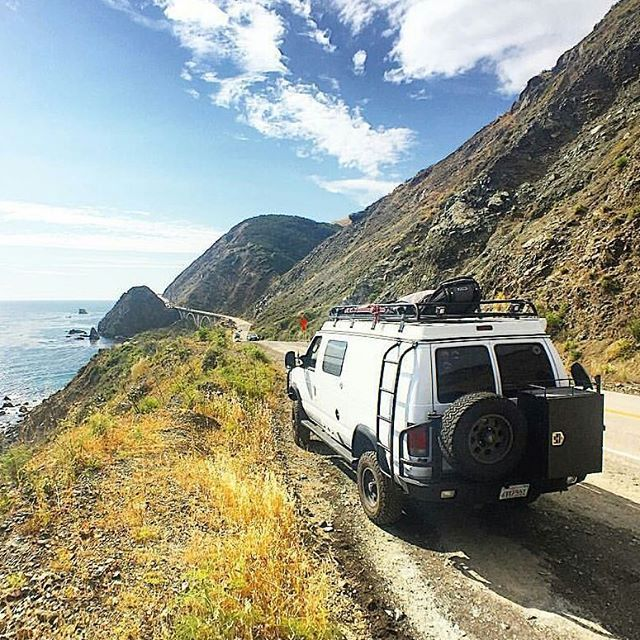 @dannpetty traveling in Big Sur #aluminess gear #vanlife