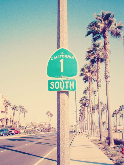 Mile marker 1 in San Diego. Want to get a picture of Josh and me under this sign when we start our PCH road trip ...
