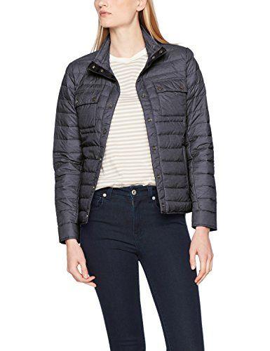 James   Nicholson Ladies  Lightweight Jacket Cappotto Donna Nero  Black-Melange 48 1f7ee395c30
