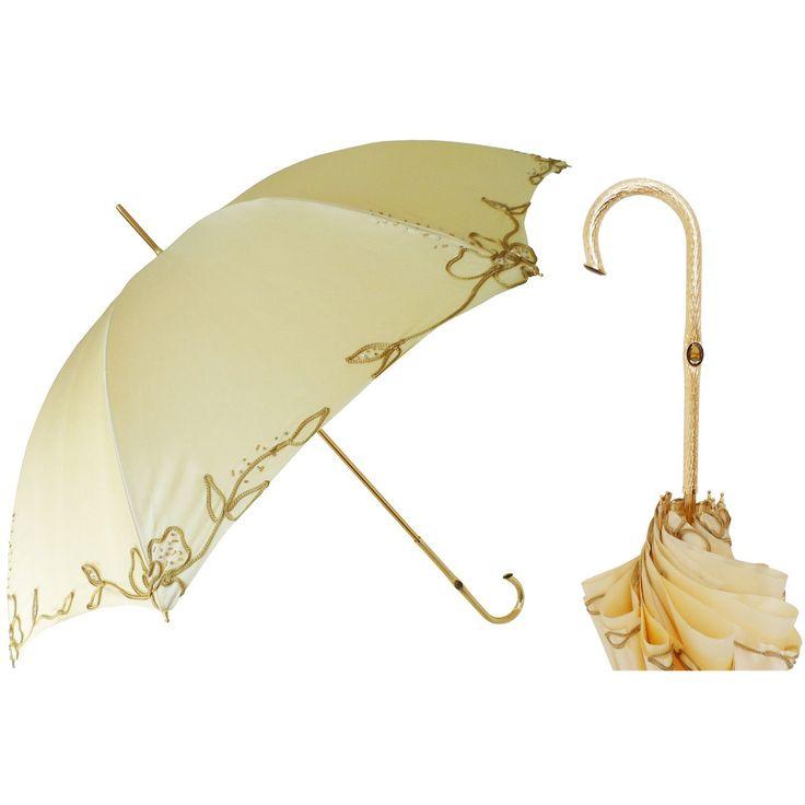 Pasotti Ombrelli Ivory Woman's Decorated Luxury Women's Umbrella