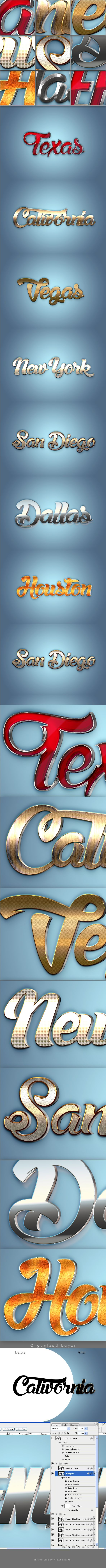 3D Text Styles for Photoshop
