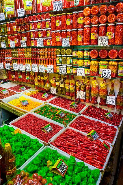Pepper Shop    Mercado Central, Belo Horizonte, Little red malagueta peppers best tasting!-Nahe