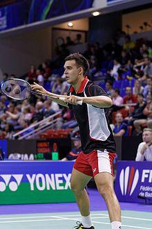 Chris Adcock (born 27 April 1989 in Leicester, England) is an internationally elite badminton player.[2]   / Yonex IFB 2013 - Eightfinal - Markis Kido - Pia Zebadiah Bernadeth — Chris Adcock - Gabrielle White 16.jpg