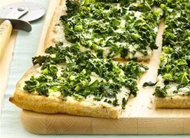 Garlicky Kale Flatbread Pizza Recipe - Tablespoon
