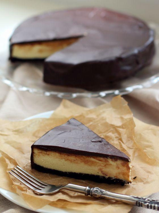 Drie keer chocolade cheesecake