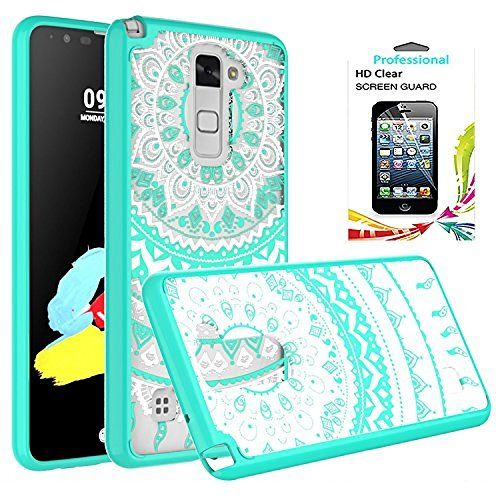 LG Stylo 2/Stylus 2/Stylus 2 Plus Clear Case with HD Screen Protector, AnoKe Scratch Resistant Colorful Mandala Flower Dream Catcher Slim Hard Cover TPU Bumper Hybrid Protective LS775 CH TM Mint, http://www.amazon.com/dp/B01GFVZ1D8/ref=cm_sw_r_pi_awdm_x_o1GZxbKT58S3T