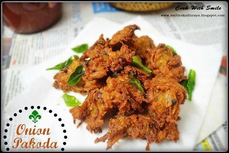 ONION PAKODA / ONION FRITTERS / KANDA BHAJI | fritters | bajji