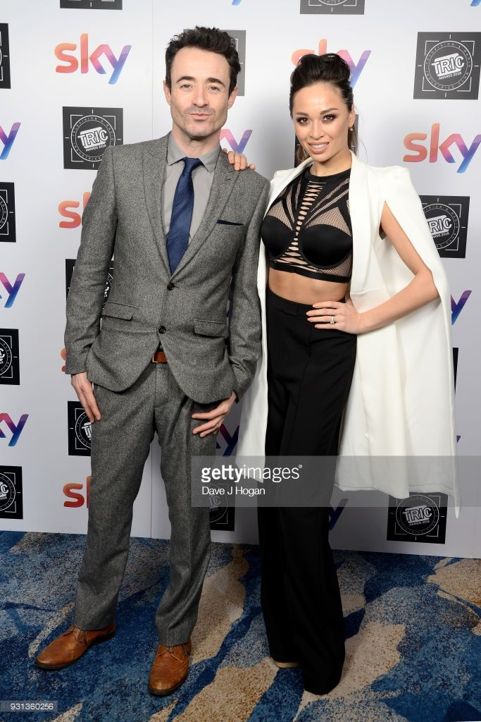 Joe McFadden (L) and Katya Jones attend the TRIC Awards 2018 held at The Grosvenor House Hotel on March 13, 2018 in London, England.