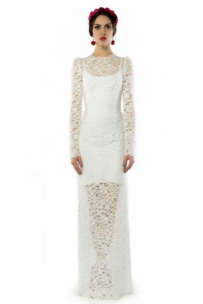 koronkowa suknia ślubna/wieczorowa