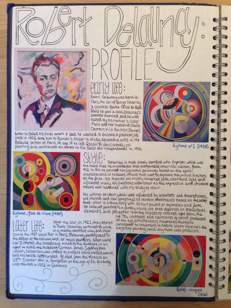 GCSE Art - Robert Delaunay studies & profile
