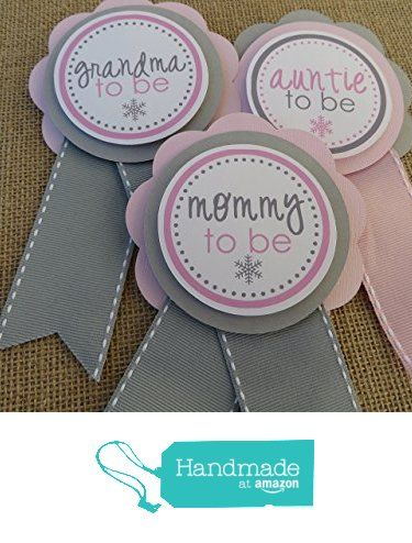 Mom To Be Pin / Grandma To Be Pin / Dad To Be Pin/Snowflake/Snowflake Baby Shower/Baby Shower Decoration- You Choose The Colors & Wording from Personalized Party Decorations by DG Studio http://www.amazon.com/dp/B0168LLA30/ref=hnd_sw_r_pi_dp_8y6ixb0P2EHF8 #handmadeatamazon