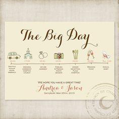 Utilisez cette chronologie de mariage : garder vos clients informés des activités de la journée du mariage !    Bienvenue chez Charis Design !