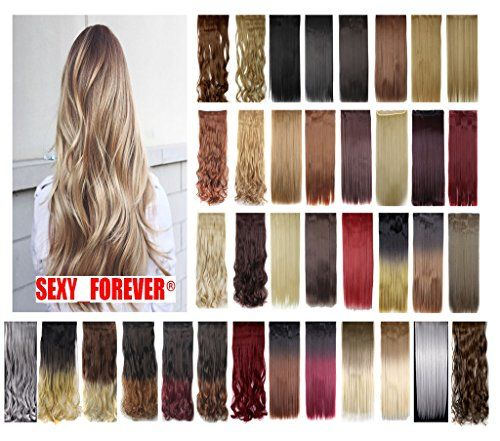 842 best wigs extensions images on pinterest full head days delivery straight curly wavy 1 piece 5 clips clip inon synthetic hair extensions hairpiece for women 41 color details can be found at pmusecretfo Choice Image