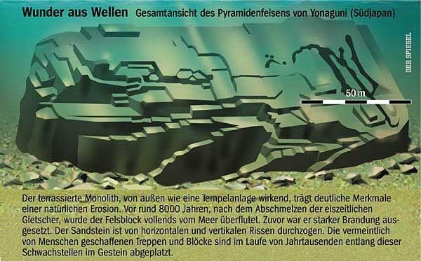 Zeugnis einer untergegangenen Hochkultur Asiens oder einfach nur ein Felsklotz im Meer? Das Yonaguni-Monument - SPIEGEL ONLINE