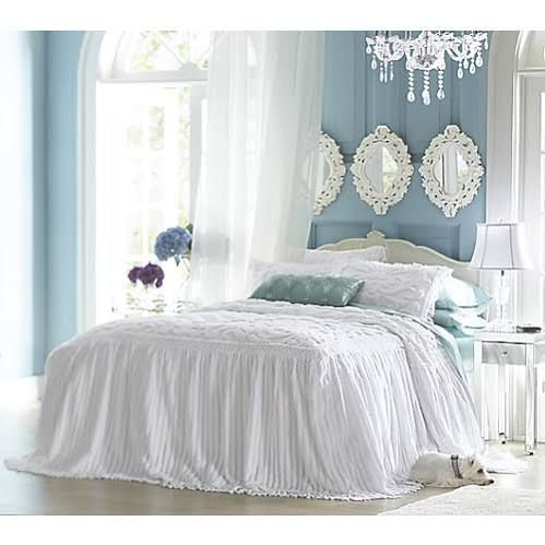 white chenille bedspreads