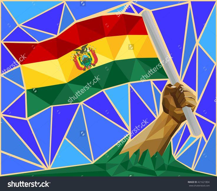 Arm Raising The National Flag Of Bolivia Image ID:421621804 Copyright: Craitza DOWNLOAD: http://www.shutterstock.com/pic-421621804/stock-vector-arm-raising-the-national-flag-of-bolivia.html?rid=501709