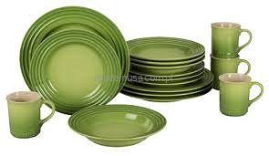 16-częściowy zestaw obiadowy Le Creuset Palm Green - Sklep internetowy Le Creuset 16 Piece Dinnerware Set - Palm Green