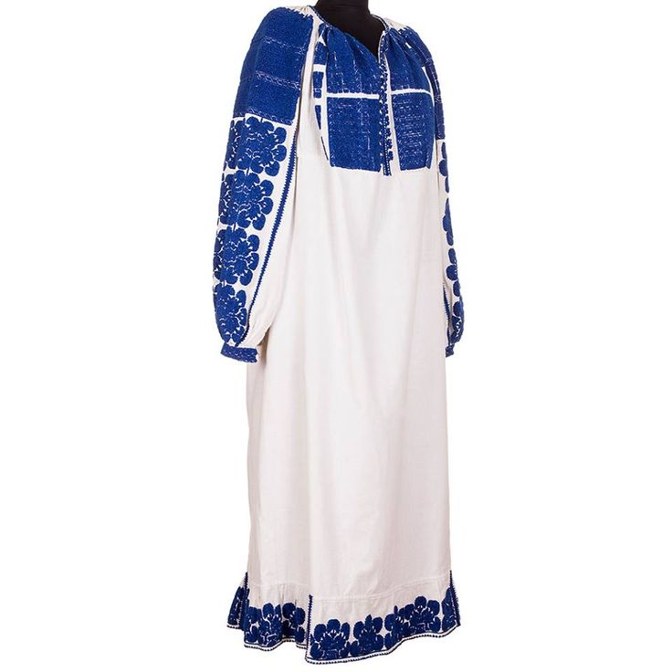 Wear with you the brautiful blue of a clear sky! This item is in great shape although it was made over 80 years ago, with a lot of love and passion for art. #florideie #blue #fashion #style #romania #design #embroidery #unique #vintage #dress #woman #art