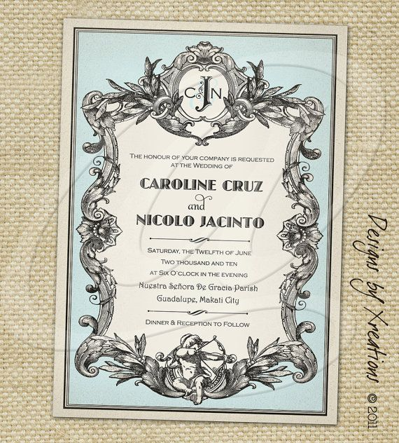 French Vintage Wedding Invitations: 17 Best Images About ZAn Evening In Paris, Ohio On