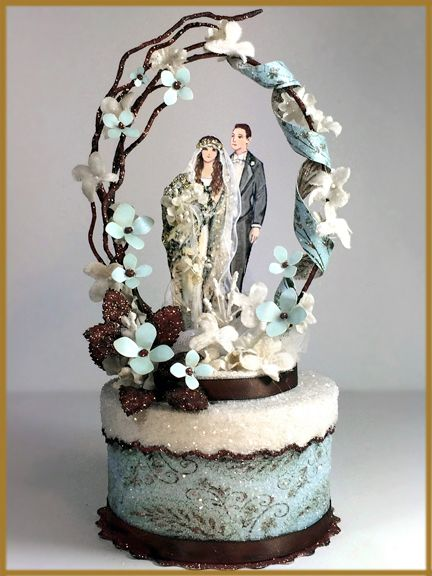 Art Deco Wedding Cake Topper