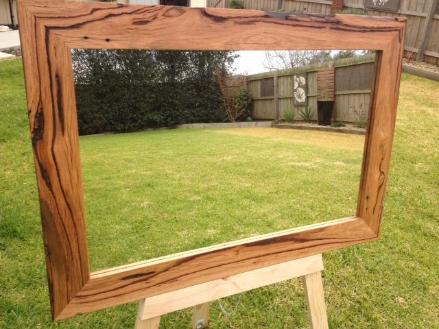 Recycled Hardwood timber mirror