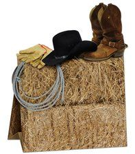 "Western Party 11"" Hat-Boot-Straw Centerpiece"