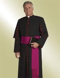 house clergy cassock with scarlet buttons Specializing in men's clergy apparel including clergy shirts, pastor robes, cassocks, chasubles, vestments, surplices, clergy stoles. One day shipping available on many items at www.religious-apparel.com
