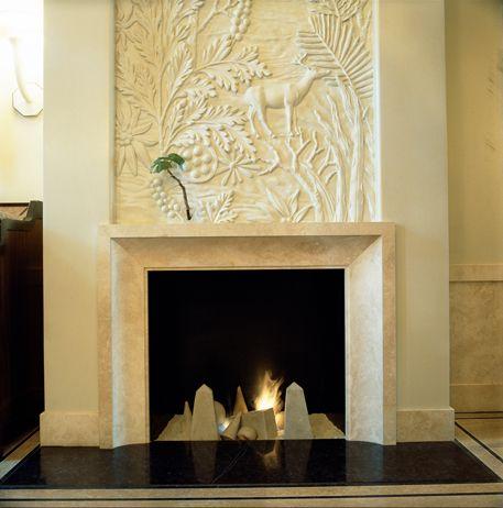 Studio Sofield (beautiful hand carved fireplace)