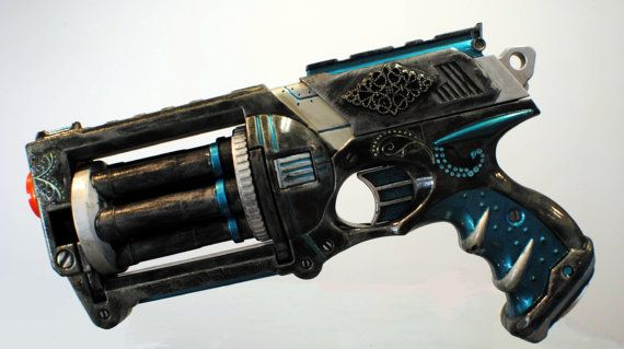 Custom made Modified nerf guns used for cosplay by artbyMeganne, $50.00