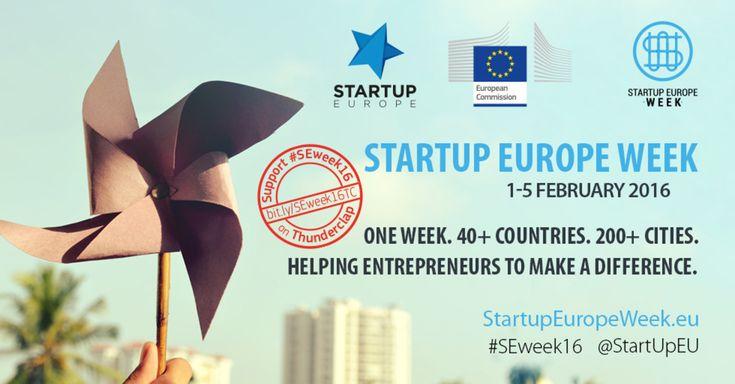 Startup Europe Week, un'iniziativa di Startup Europe e del Comitato Europeo delle Regioni per promuovere l'imprenditorialità - #SEweek16