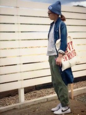 ★miki★│ユニクロのTシャツ(長袖・七分袖)コーディネート