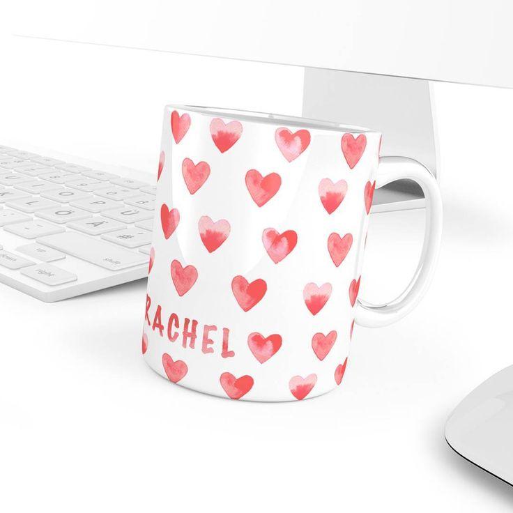 Would u surprise ur Love? Great! Send straight to the door a Heart Pattern Mug with Name on it! ❤ www.goo.gl/mIUmpm from @superzupermug  .  #rachel #lovegift #mylove #hearts #hearts❤ #handmadeatamazon #amazonhandmade #handmadeamazon #amazonsellers #anniversarygift  #smallbiz #mycreativebiz #makersgonnamake #hellosmallshop #creativelifehappylife #handsandustle #tnchustler #creativeentrepeneur #girlboss #brandchat #creativepreneur