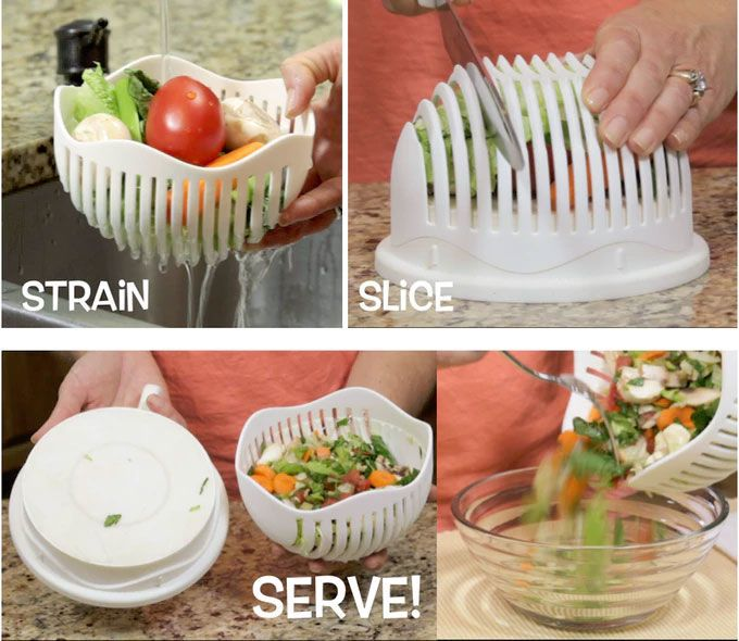 salad maker - Washing and chopping ingredients for a salad usually takes a fair bit of time, so the '60 Second Salad Maker' is designed to cut the pr...