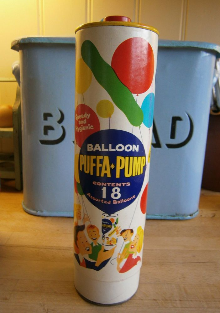 VINTAGE 1960 S PUFFA-PUMP BALLOON PUMP RETRO GRAPHICS VINTAGE CHRISTMAS