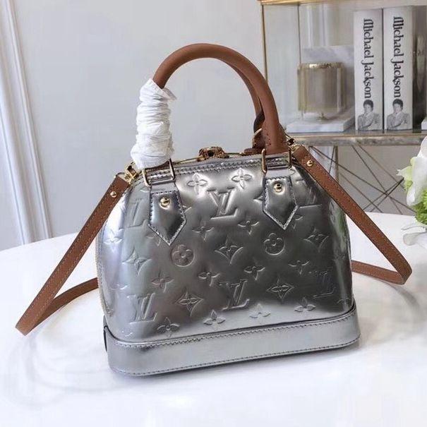 ef42bdbad1e Louis Vuitton Metallic Monogram Vernis Alma BB Bag 2018