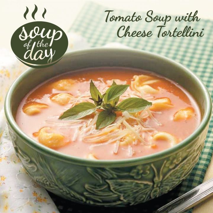 Tomato Soup with Cheese Tortellini Recipe from Taste of Home -- shared by Susan Peck of Republic, Missouri
