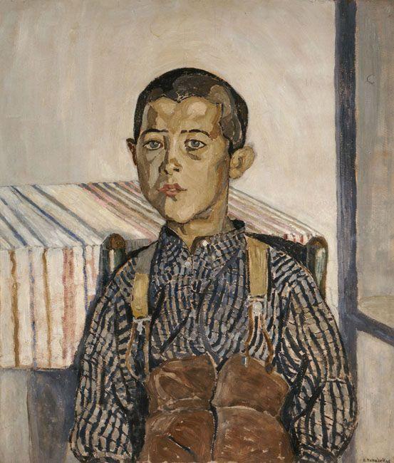Spyros Papaloukas, Boy wearing suspenders, 1925