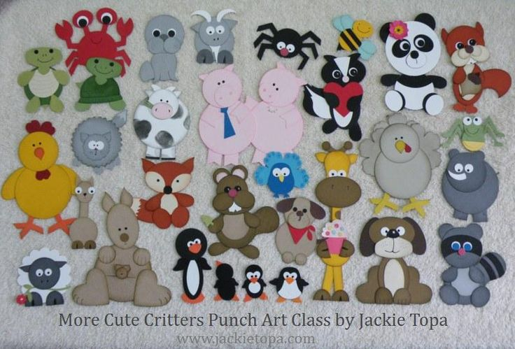 More Cute Critters Punch Art Class includes cheat sheets and step by step instructions to make all 30 critters for $25. #punchart, #Stampin'Up, #punches,