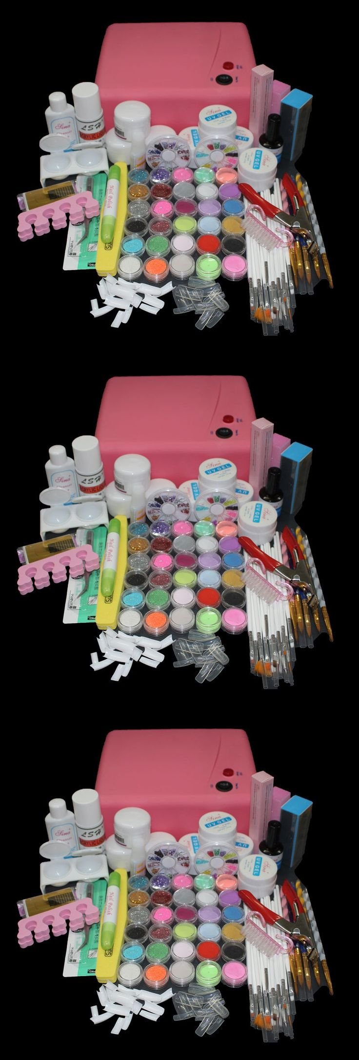 BTT-116    free shipping Pro 36W UV Dryer acrylic nail art set ,acrylic nail kit ,kit nail gel ,kit  Gel nails set with lamp