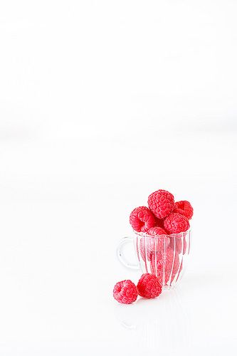 Food styling - raspberry